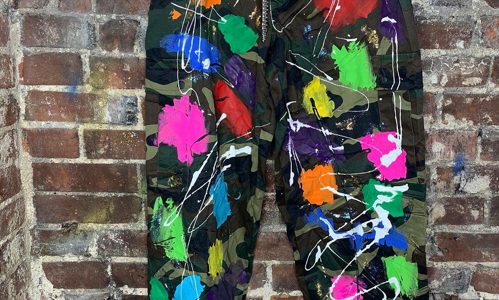 Painted Fatigue Pants