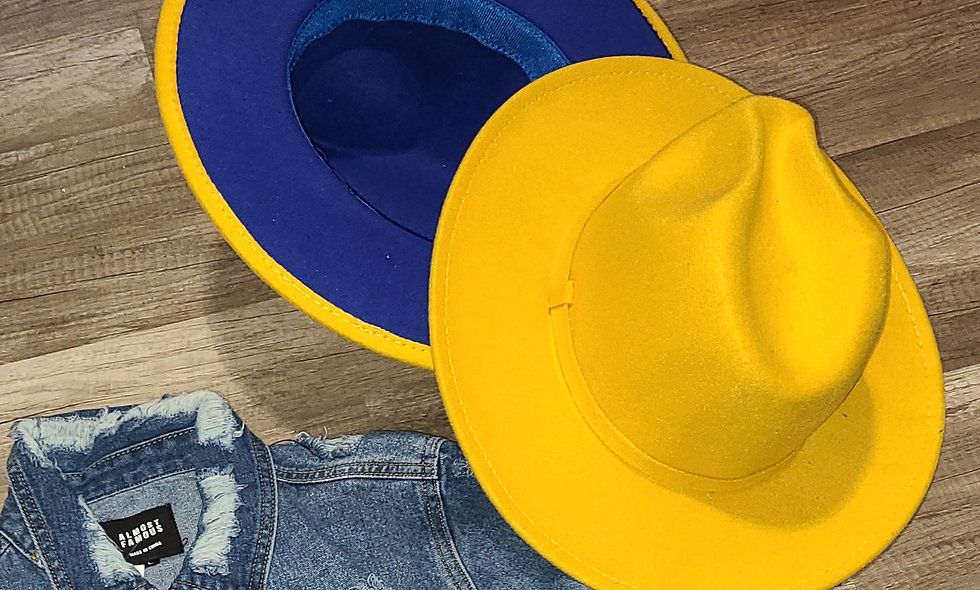 Yellow Blue Bottom Fedora