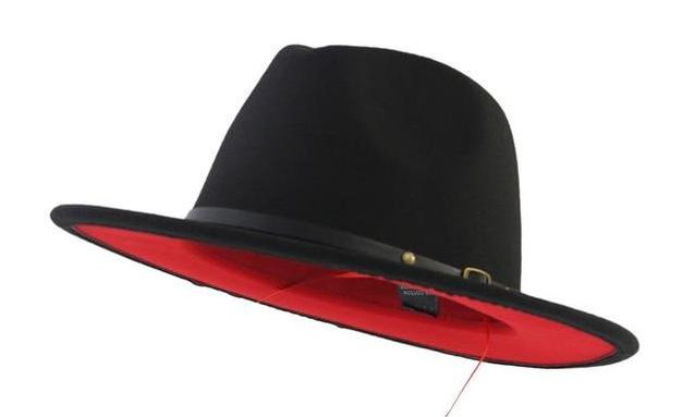 Black Fedora Red Bottom