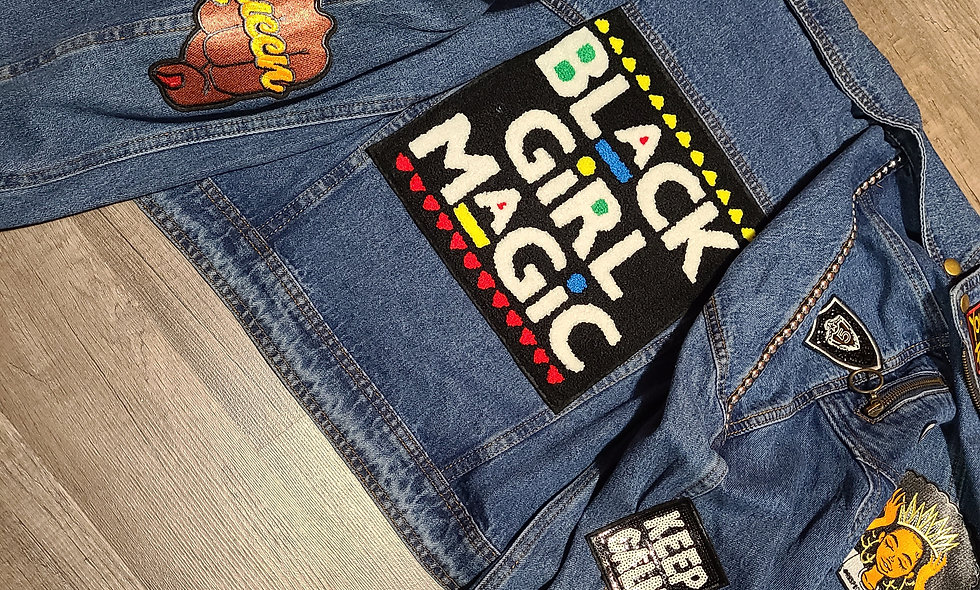 Black Girl Magic Denim Jacket