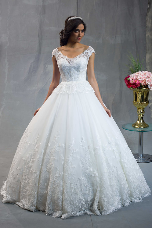 Sheer Top Ball Gown