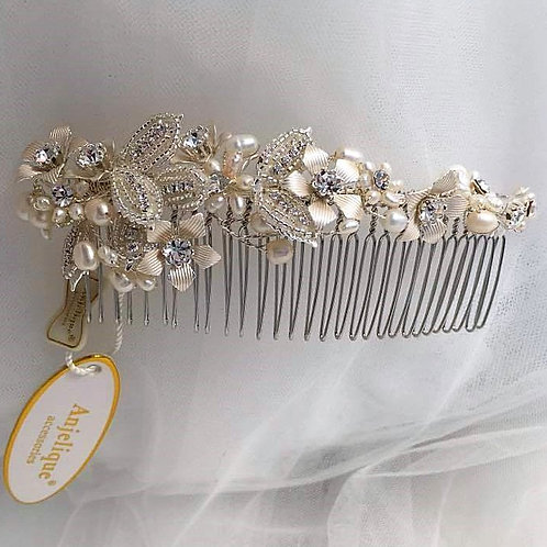 Vintage Style Silver Hair Comb