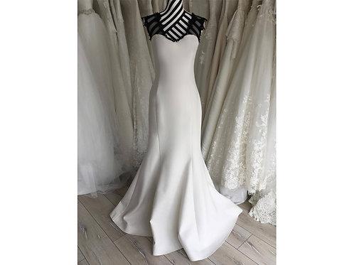 Black and White Evening Dress, size UK12