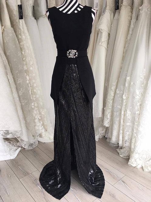 Black A-line Sequins Dress