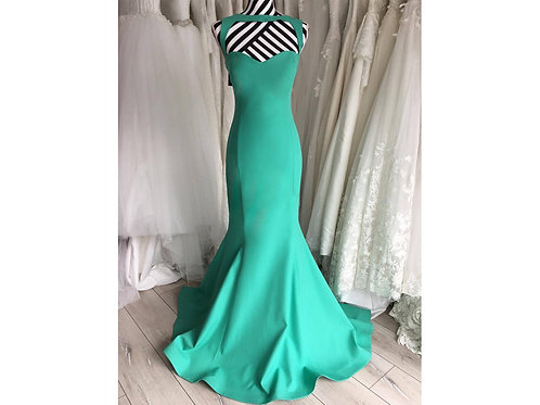 Green Halter Neck Dress, size UK 12