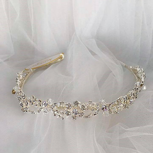 Embellished Tiara with Rhinestones