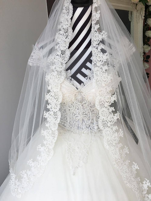Veil with Lace All Around