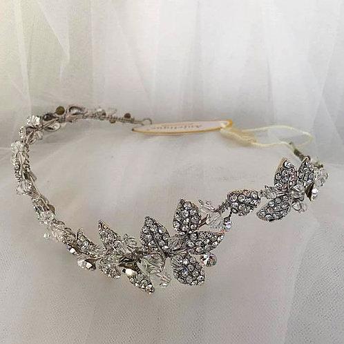 Vintage Style Embellished Leaf Tiara