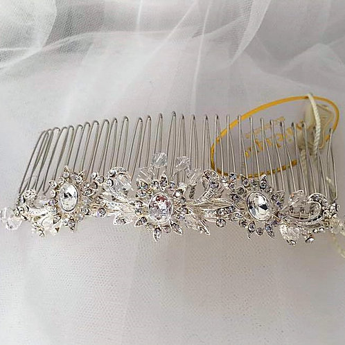 Embellished Silver Hair Comb