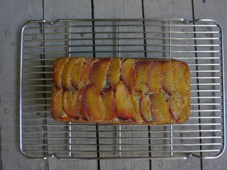 GF Upside Down Peach Loaf