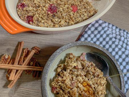 Cranberry Baked Oats