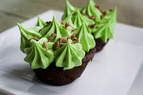 Double Chocolate Chip Mint Cupcakes