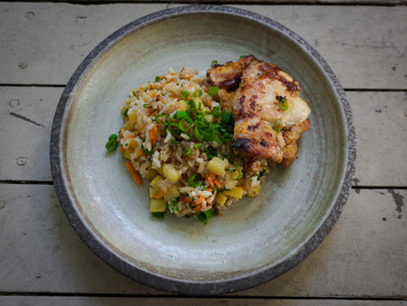 Lemongrass Chicken & Pineapple Fried Rice