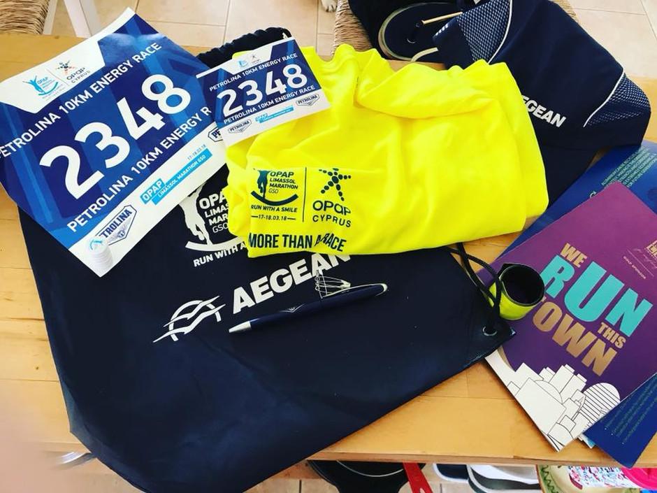 Limassol Marathon Sunday 18th March 2018