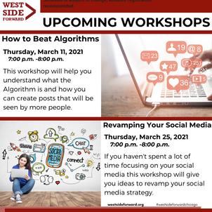 Client Event Flyer: March Social Media Workshops