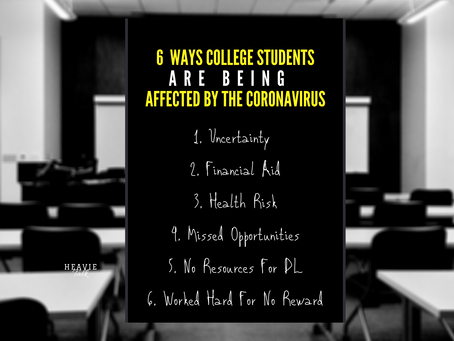 6 Ways College Students Are Being Impacted By The Coronavirus