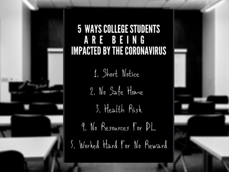 5 Ways College Students Are Being Impacted By The Coronavirus