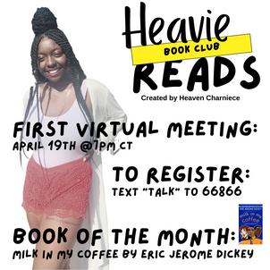 Client Event Flyer: HeavieReads April Book Club Flyer