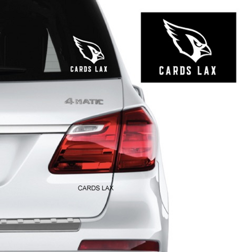 Cards Lax Car Decals
