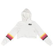 Custom crop hooded sweatshirts