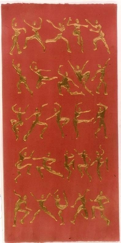 Red Asanas Scroll
