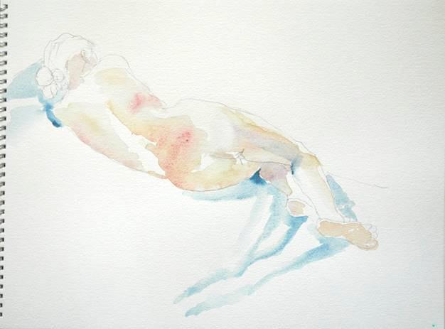 Nude sketch in sketchbook
