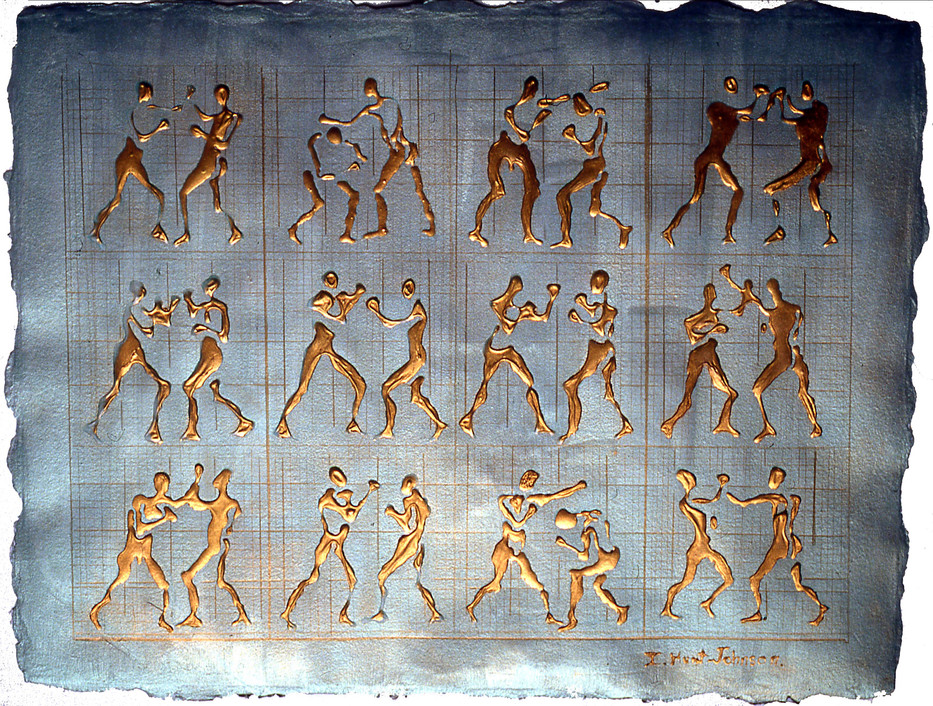 Boxing series Muybridge Grid