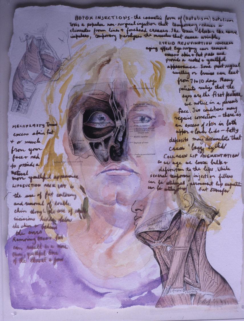 Self Portrait   Contemplating Plastic Surgery