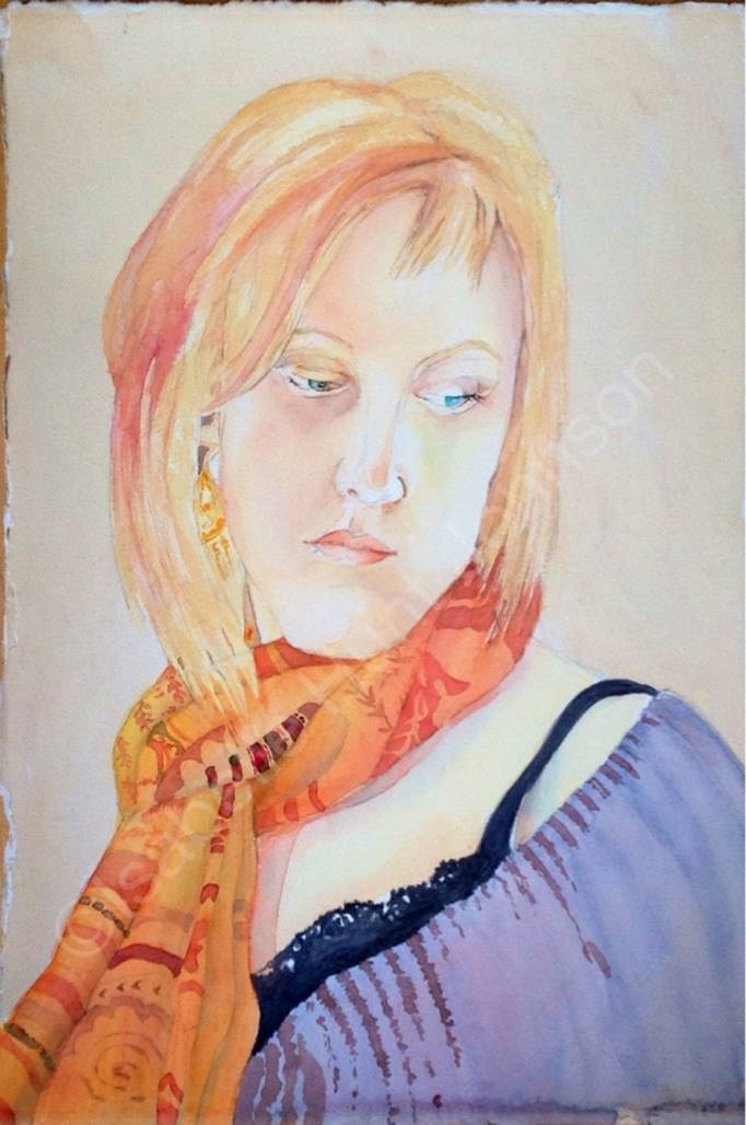 """Girl with Red Hair   15"""" x11"""""""