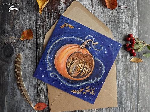 Magic Pumpkin. Greeting Card x1