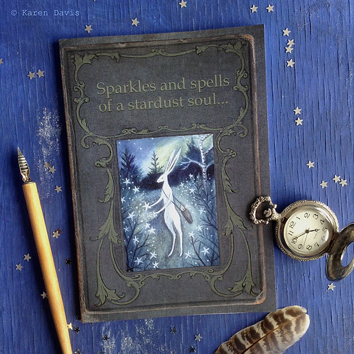 Notebook. Sparkles and Spells of a Stardust Soul. A5 Size