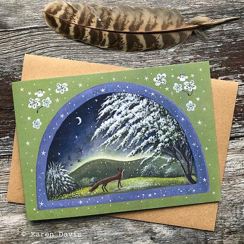 Hawthorn Fox. Greeting Card x1