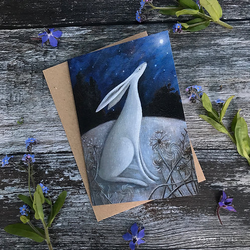 Wishing on a Blue Moon. Greeting Card x1