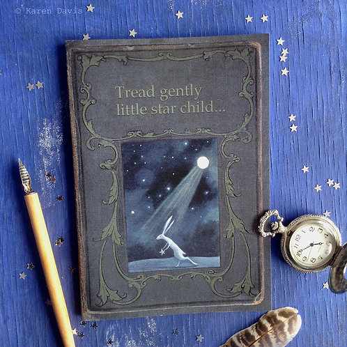 Notebook. Tread Gently Little Star Child. A5 Size