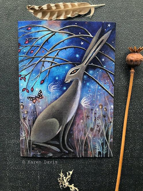 Autumn Hare. Greeting Card x1