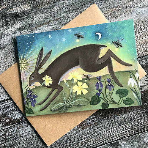 Journey into Spring. Greeting Card x1