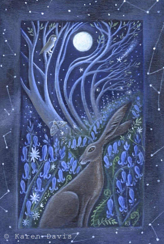 Midnight in the Wood. Hare