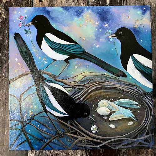 Magi. Original Acrylic Painting on Canvas.