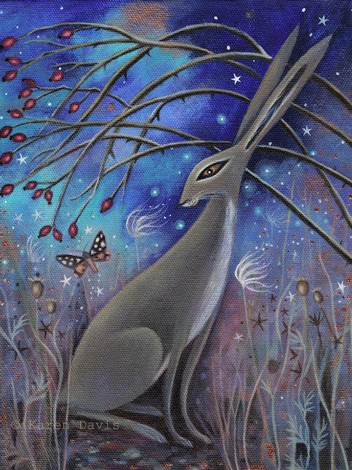 Autumn Hare. Art Print A4/189 gms