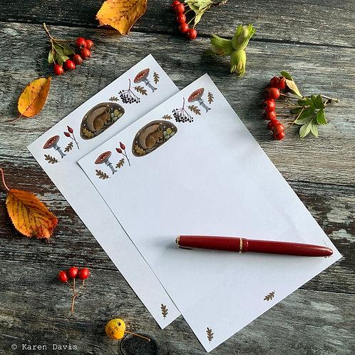 Squirrel Writing Paper ~ 'DIGITAL DOWNLOAD' PDF File.