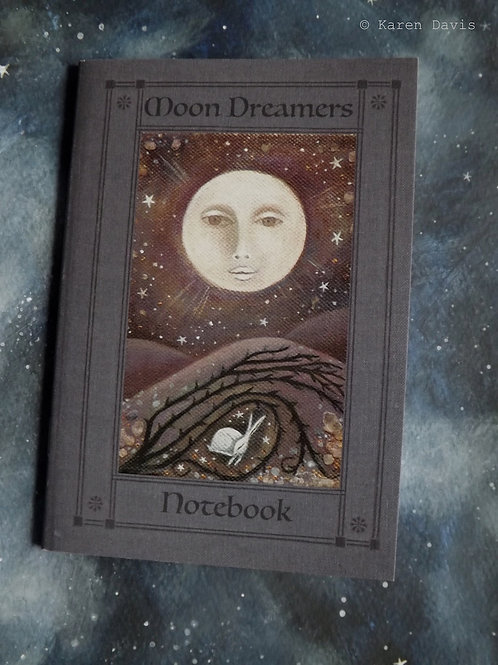 Moon Dreamers Notebook. A6 size /36 plain pages.
