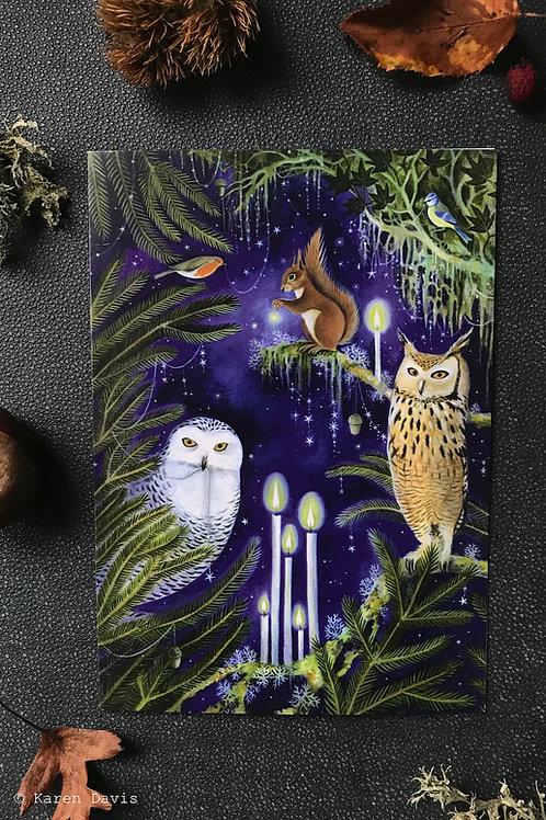Spellbound in the Forest. Greeting Card x1