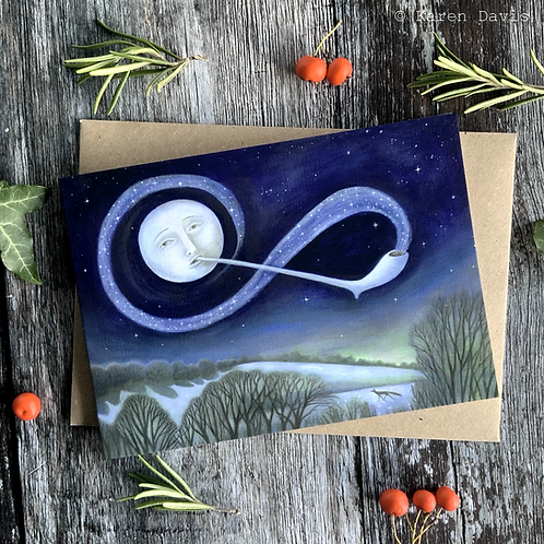The Mudlarkers Moon. Greeting Card x1