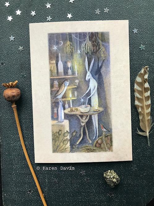 Star Elixir. Greeting Card x1
