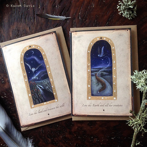 Love the Earth, Love the Land. Greeting Cards x2