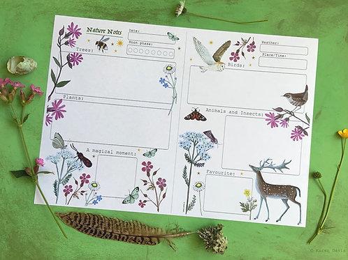 Nature Notes ( Colour version) 'DIGITAL DOWNLOAD' PDF File.