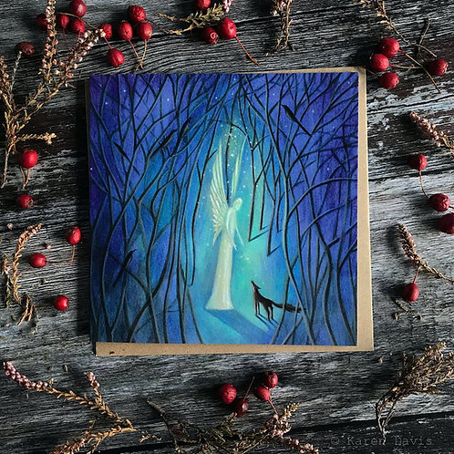 An Angel in the Woods. Greeting Card x1
