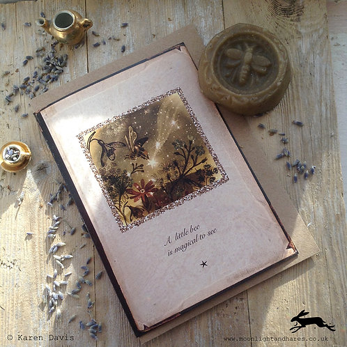 A Little Bee is Magical to See. Greeting Card x1