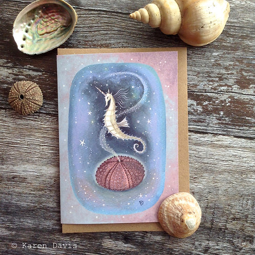 Sea Unicorn. Greeting Card x1