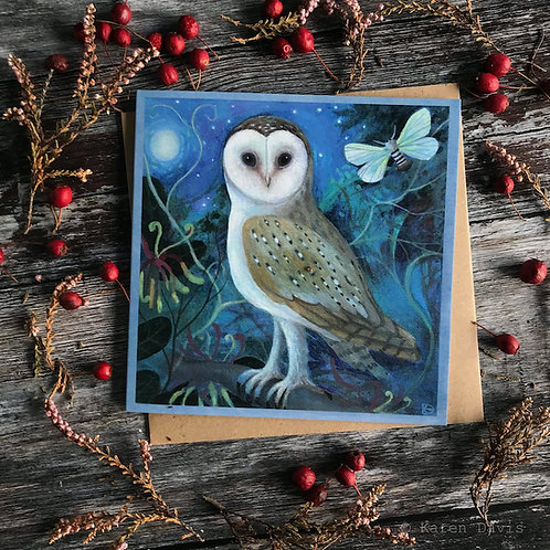 Owl. Greeting Card x1